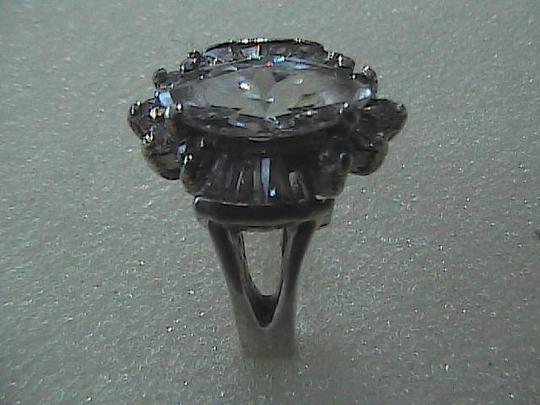 Vintage Sterling Silver Marquise Cut Ring