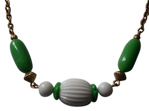 Avon AVON Like new Vintage Green White Lucite Bead Necklace