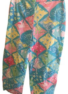 Lilly Pulitzer Capri/Cropped Pants Multi: Blue, pink, green, yellow