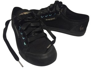 Le Coq Sportif Sneaker Unisex Black Satin with Blue detail Athletic