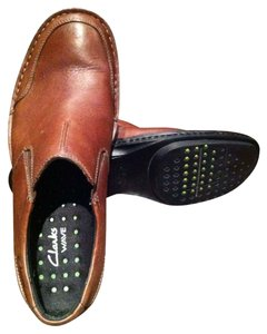 Clarks Men Size 10.5 Slip-ons Brown Formal