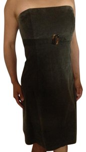 Robin Jordan Strapless Corduroy Empire Waist Dress