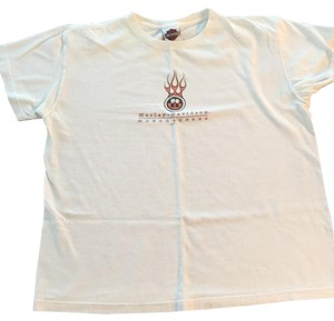 Harley Davidson T Shirt White with color logo
