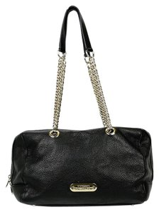 Versace Collection Leather Gold Chains Plaque Shoulder Bag