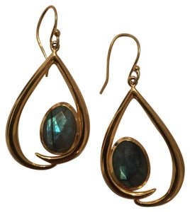 Argento Vivo Labradorite Charm Dangle Earrings