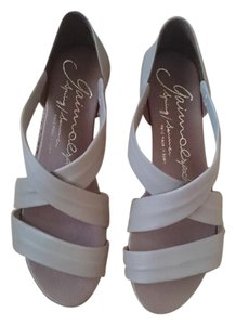 Gaimo Espadrille Wedge Leather Made In Spain Beige Sandals