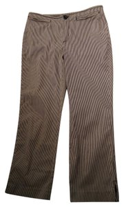Banana Republic Striped Striped Size 8 Martin Stretch Trouser Pants Black, White