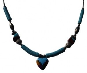 Unknown Native art turquoise necklace