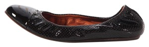 Lanvin Perforated Cap Toe Ln.k0411.12 Leather Ballerina Brown Flats