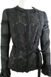Andrew Gn Gn Women Fashionabl Top Sheer Top Gn Women Black Jacket