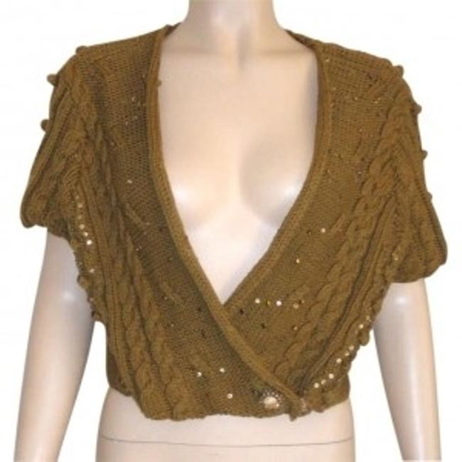 Preload https://item3.tradesy.com/images/brown-cropped-medium-large-sequins-sweaterpullover-size-10-m-167322-0-0.jpg?width=400&height=650