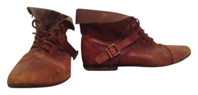 Item - Dark Brown Leather Indie Urban Outfitters Vintage Anthropology Boots/Booties Size US 10 Regular (M, B)
