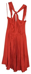 Halston short dress Orange on Tradesy