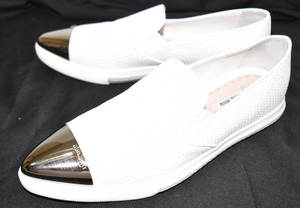 Miu Miu Slip On Platform Wedge WHITE LEATHER Athletic