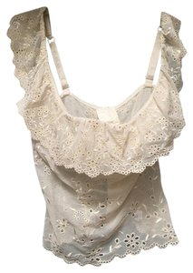 La Perla Corset Cream Halter Top