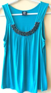 Bobeau Embellished Blue Top green