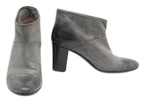 Maison Margiela Distress Leather Charcoal Grey Distressed Boots