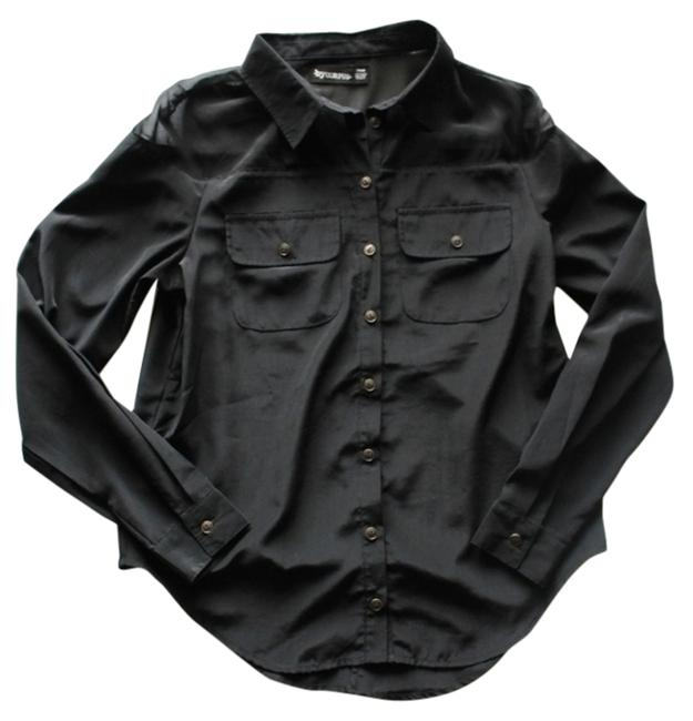 Urban Outfitters Sheer Top Black