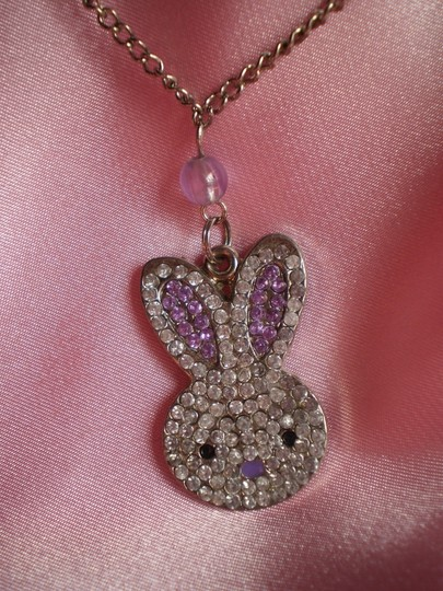 Unknown Bunny rabbit rhinestones necklace