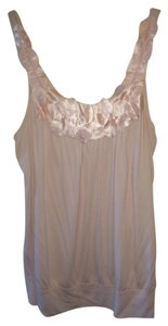 Bobeau Satin Embellished Top Light Pink