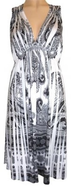 Preload https://item1.tradesy.com/images/one-world-black-and-white-medium-stretch-knee-length-cocktail-dress-size-8-m-167340-0-0.jpg?width=400&height=650