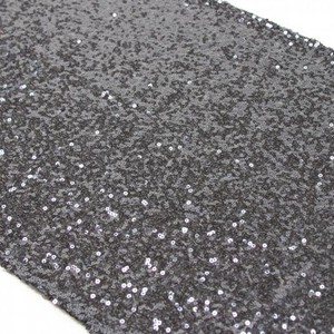 Koyal Wholesale Gray 12 Charcoal (Grey) Sequin Runners - Perfect For Tablecloth