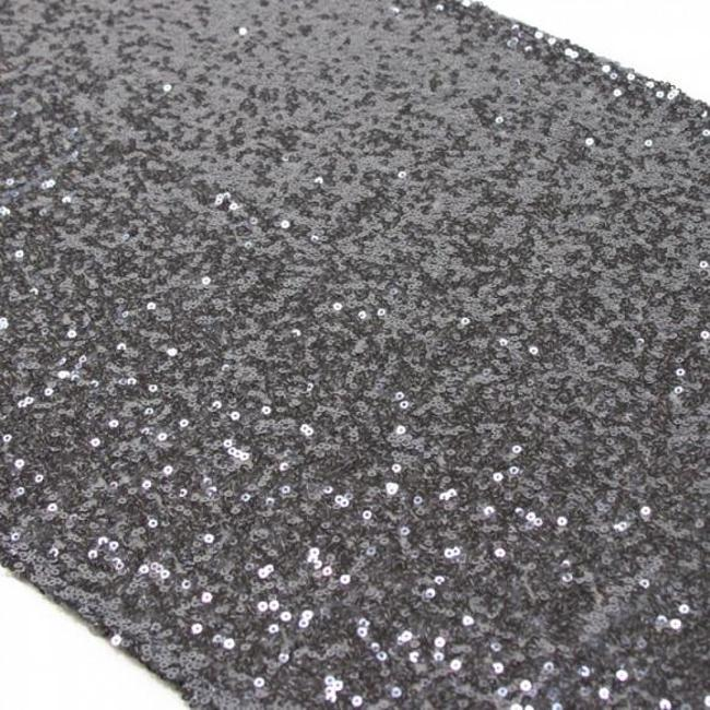 Item - Gray 12 Charcoal (Grey) Sequin Runners - Perfect For Tablecloth