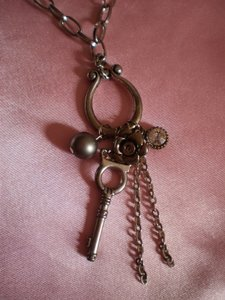 Other silvertone charms necklace