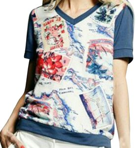 Peter Som T Shirt Blue/Multi