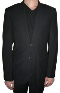 Giorgio Armani Classic Giorgio Armani Men Dressy Black Wool 2pcs Suit Jacket Pants Size Medium