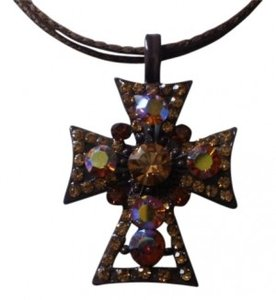 Unknown Stunning crystal rhinestones cross necklace