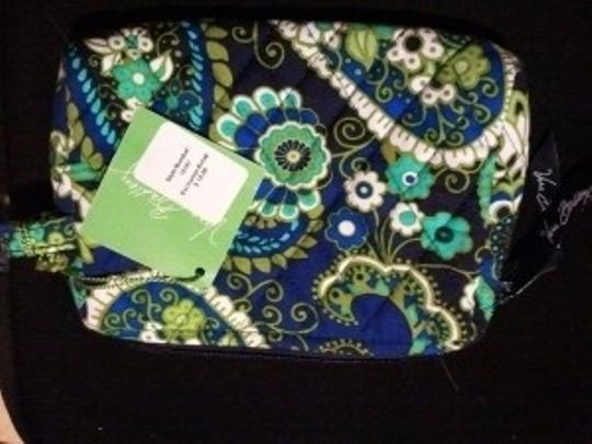Vera Bradley Royal, Turqoise, White, Green Clutch