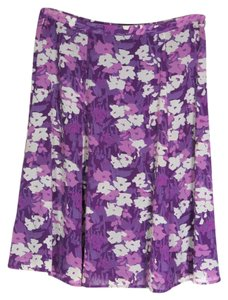 Liz Claiborne Skirt Purple White