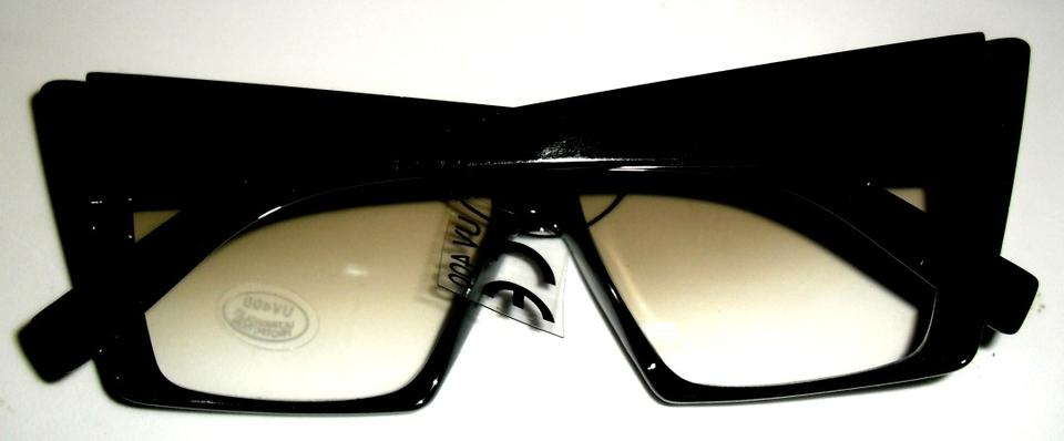 cf0ee2a12833 Black and Clear Lens Sexy Nerdy Girl Dynamic Cat Sunglasses - Tradesy