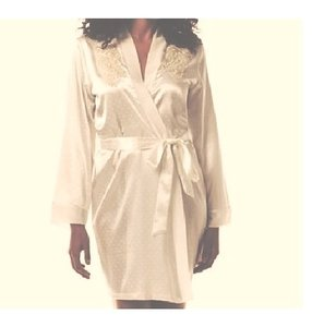 Donatella Bride Satin Robe- S/m - Free Shipping