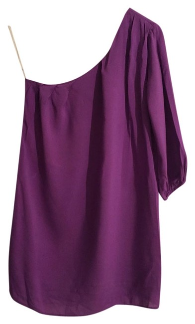 Item - One Shoulder Blouse/Mini Dress Purple Top