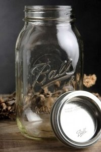 Ball Clear Mason Jars Cs/12 Quart Size New Centerpiece