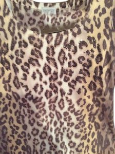 Chico's short dress Animal print Browns / beige on Tradesy