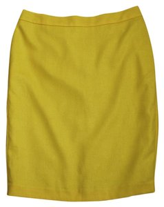 CAbi Pencil Mustard Skirt Yellow