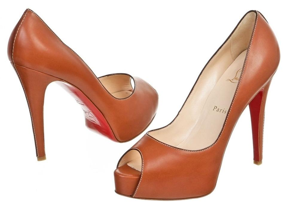 Christian Louboutin Tan Leather Hyper Pumps Cire 120 Peep 40) Pumps Hyper d53d84
