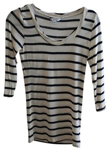 CAbi T Shirt Striped white and navy