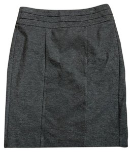 CAbi Ponte Ponte Knit Pencil Work Skirt Grey