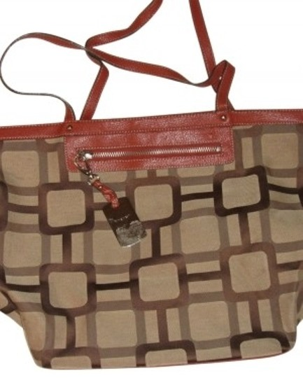 Preload https://img-static.tradesy.com/item/16739/nine-west-khaki-brown-polyester-and-cotton-tote-0-0-540-540.jpg