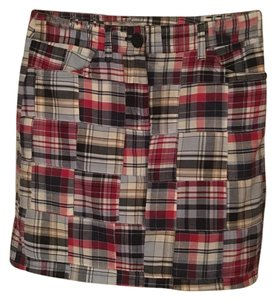 Ann Taylor LOFT Mini Skirt Red/white/blue plaid
