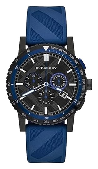 Burberry Burberry Watch, Unisex Swiss Chronograph The New City Sport Blue Rubber Strap 42mm