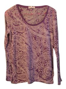 Aéropostale Sheer Paisley Printed Top Purple