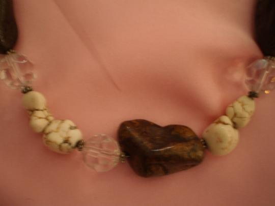 Unknown rocks & crystal beads necklace