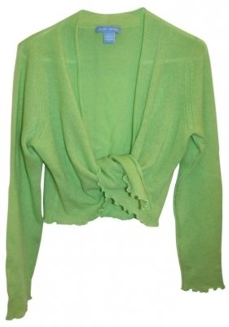 Preload https://img-static.tradesy.com/item/167407/white-warren-lime-green-cashmere-wrap-sweaterpullover-size-12-l-0-0-650-650.jpg