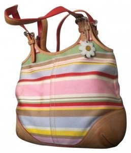 Coach Leather Accent Base And Leather Handles Tote in MULTI