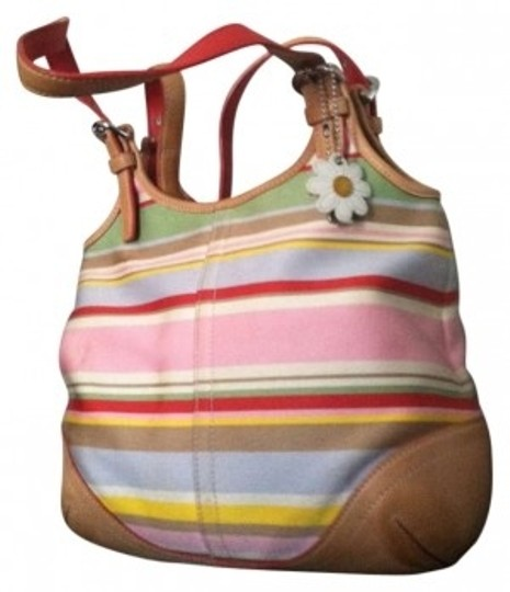 Preload https://item4.tradesy.com/images/coach-spring-multicolor-clothleather-tote-167408-0-0.jpg?width=440&height=440